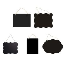 Rustic Chalkboard Hanging Signs Double Sided for Standard Chalk Message Board