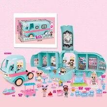 Настоящие куклы LOL Surprise House Lols, оригинальная Гламурная игрушка 2 в 1, кукла автобус OMG, игрушка для сестры, девочка, рождественский подарок