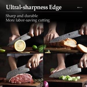 Image 5 - Xinzuo 5 個ナイフセット vg10 ダマスカス鋼包丁セットステンレス鋼包丁シェフユーティリティ果物ナイフローズウッドハンドル