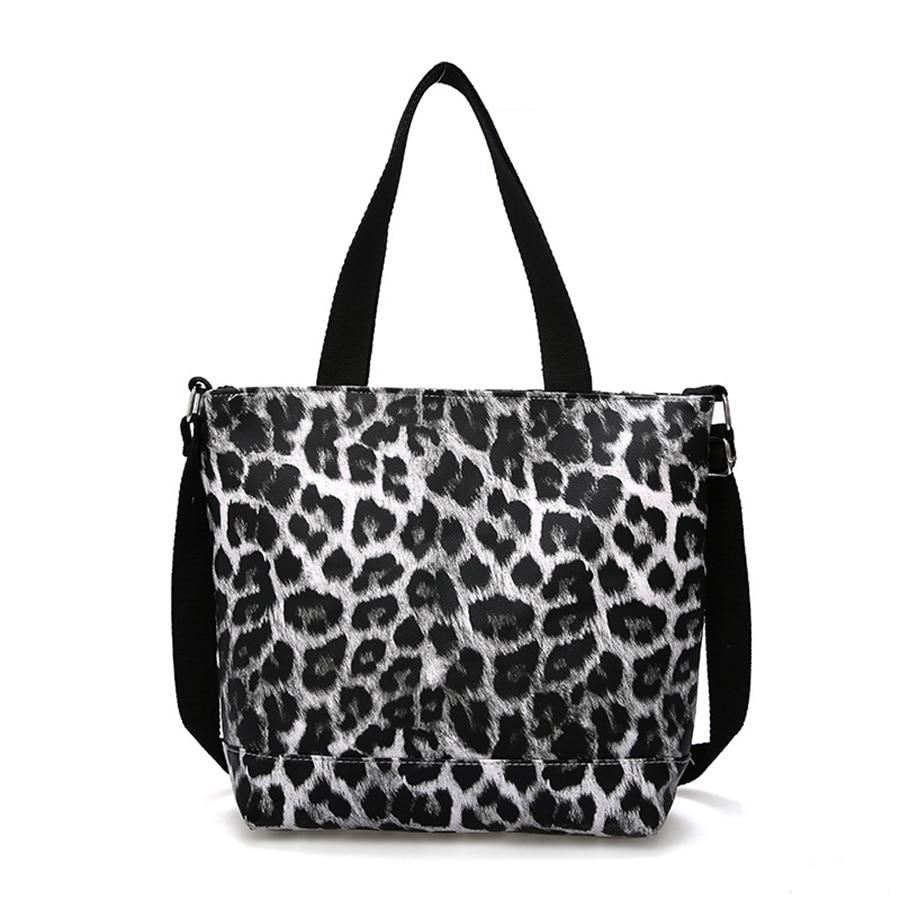 Women Bag Handbag 2019 New Sleek Minimalist Large Capacity Handbag Shoulder Bag Leopard Handbags Women 39 S Leopard Tote Bag in Top Handle Bags from Luggage amp Bags