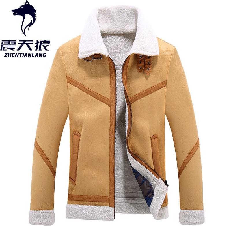 Cross Border For Separate Station Foreign Trade Winter Jacket MEN'S Wear Uniform Lambs Wool Coat Men's Fur Jacket Men's
