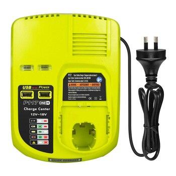 Li-ion NiCad Battery Charger P108 P117 For Ryobi 12V-18V Ni-CD Ni-MH US/AU/EU Battery Charger Ryobi One Plus 18V Tool power tool battery 18v ni cd ni mh 5000mah rechargeable for hitachi drill eb1820 eb1814 eb1826hl eb1830hl 322437 battery