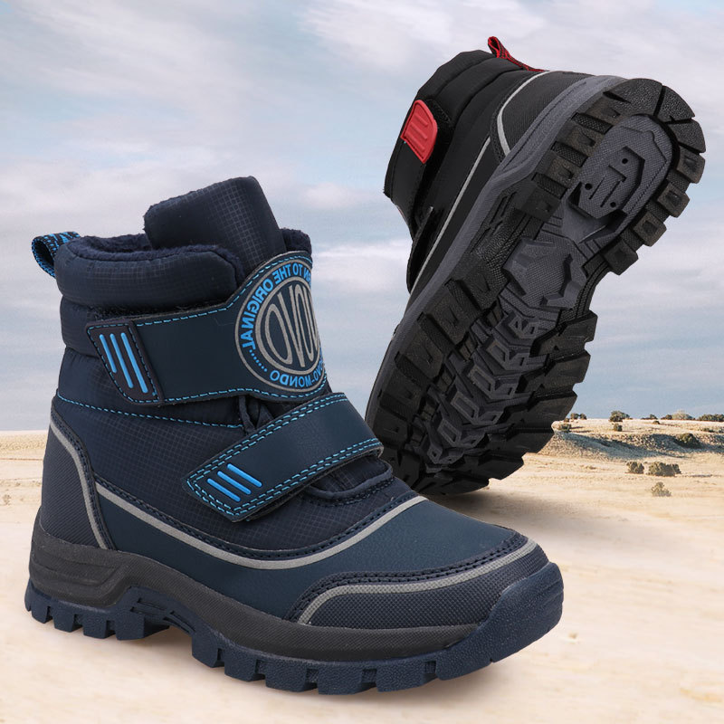 UOVO 2020 New Kids Fashion Boots Hook-and-Loop Closure Sporty Kids Shoes Warm And Comfortable Boys Boots For Eur Size 26#-39#