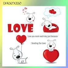 Daboxibo отправка нашей любви прозрачные штампы для diy скрапбукинга/открыток/фотоальбом