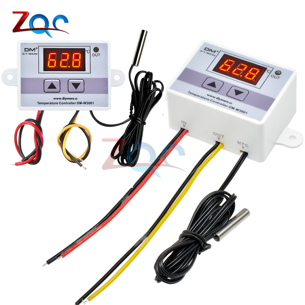 <font><b>W3001</b></font> 110V 220V 12V 24V Digital Temperature Controller Thermostat Thermoregulator Aquarium Incubator Water Heater Temp Regulator image