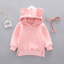 AMISSA 2019 New Spring and Autumn Casual Baby Kids Boy Girl Cotton Long-sleeved Hooded Sweatshirt Rabbit Ears Tops Sportswear