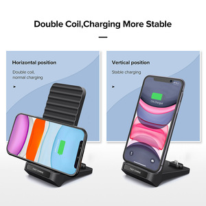 Image 4 - Snelle Qi Draadloze Oplader Voor iPhone XS XR X 8 Samsung S10 S9 QC 3.0 Type c PD Quick charge Multi Usb Telefoon Opladen Dock Station