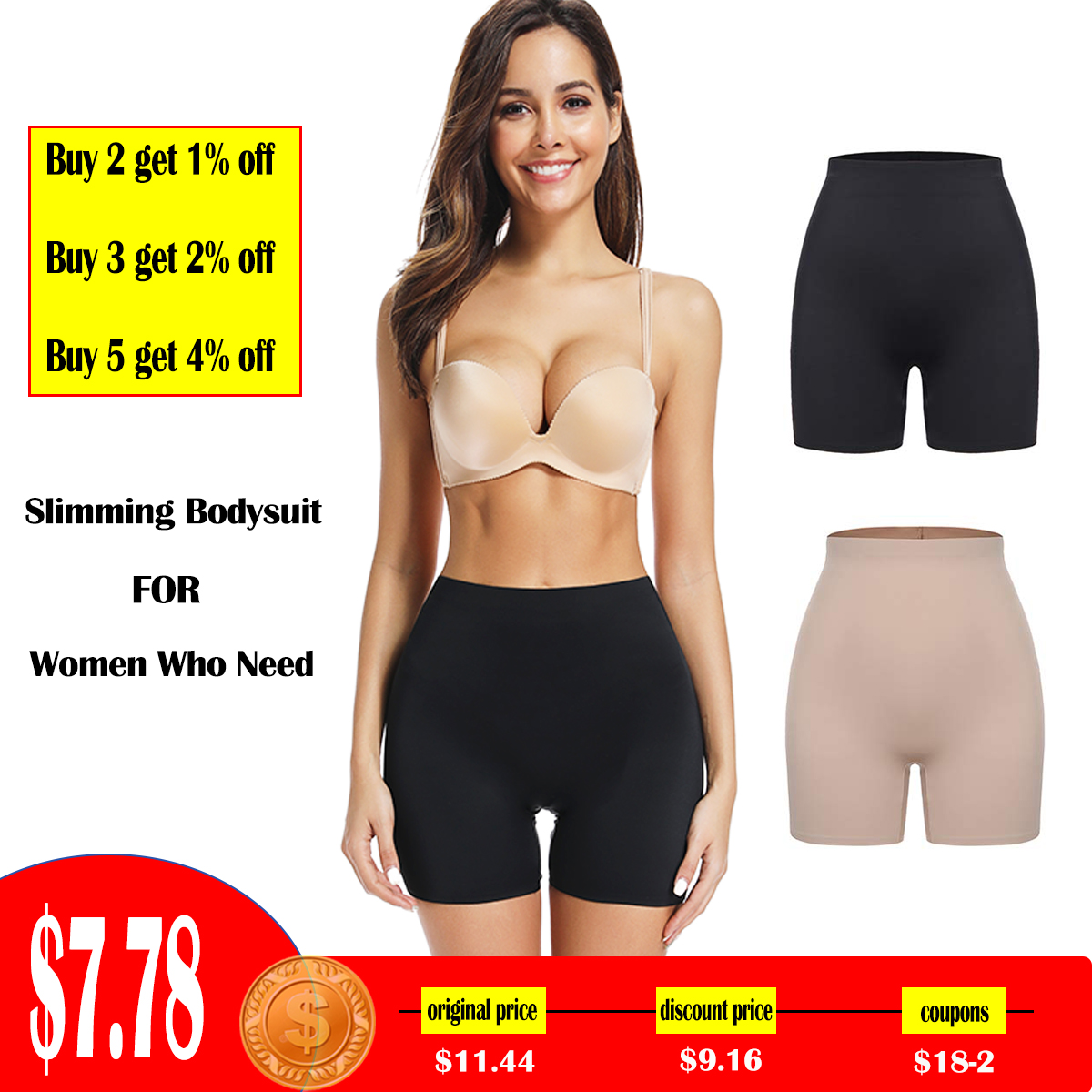Safety Short Pants Seamless Underwear Women Underpants Boyshorts Boxer Femme High Waist Panties Briefs Slim Shapewear Knickers