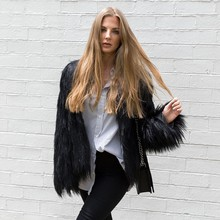 New Floating Hair Jacket Fur Coat Women Lady Overcoat Imitation Fur Faux Fox Jackets Hairy Party Fur Warm Coat Plus Size XXXL(China)