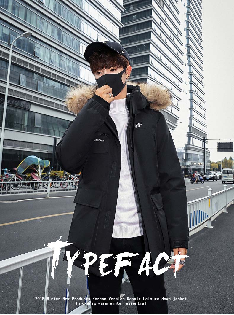 2019 new fashion down jacket fierce fall winter man jacket men's 'outerwear   parkas   men' s winter coat