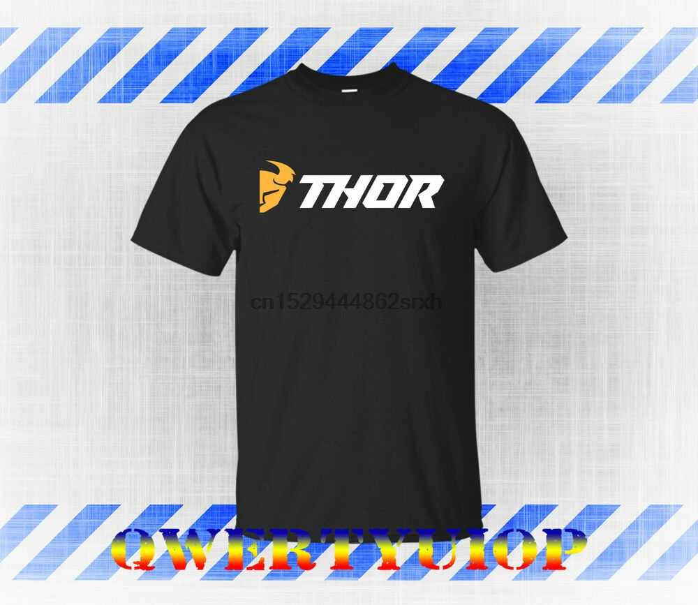 Thor MX Gear Motocross Thor Dirt Bike Riding Gear Black T-Shirt S M L XL  2XL