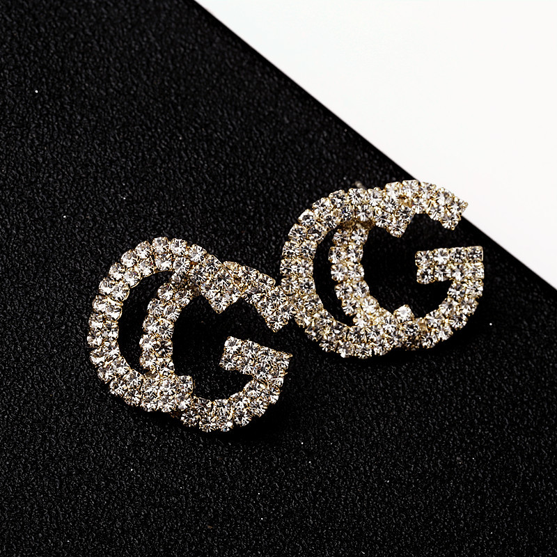 2020 Letter CG Jewelry Unique Design Luxury Rose Gold Color Multi Cz Micro Pave Setting Earrings For Women|Stud Earrings| - AliExpress