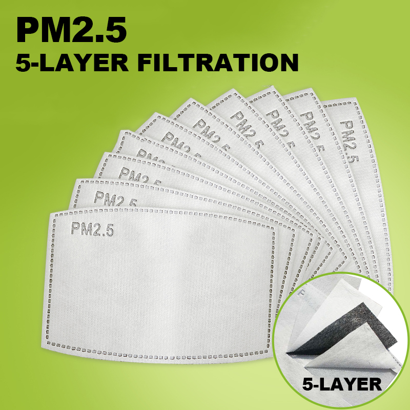 Mask Gasket 50/100Pcs PM2.5 Activated Carbon Filter Face Mask Breathing Insert Protective Mouth Protection PM2.5 Filter In Stock