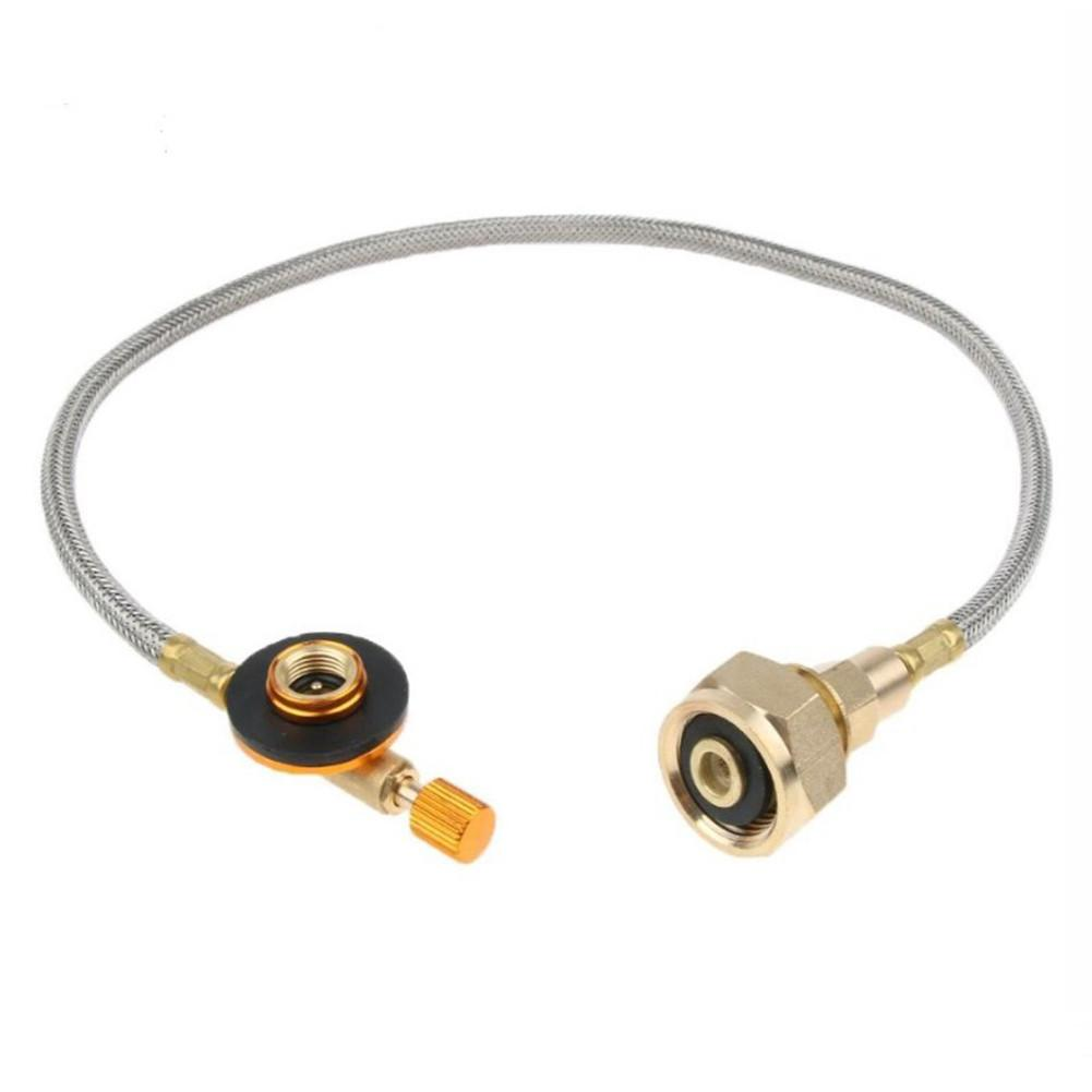 Braided Hose Gas Connector Burner Adapter Valve Camping Cooking Tank Equipment