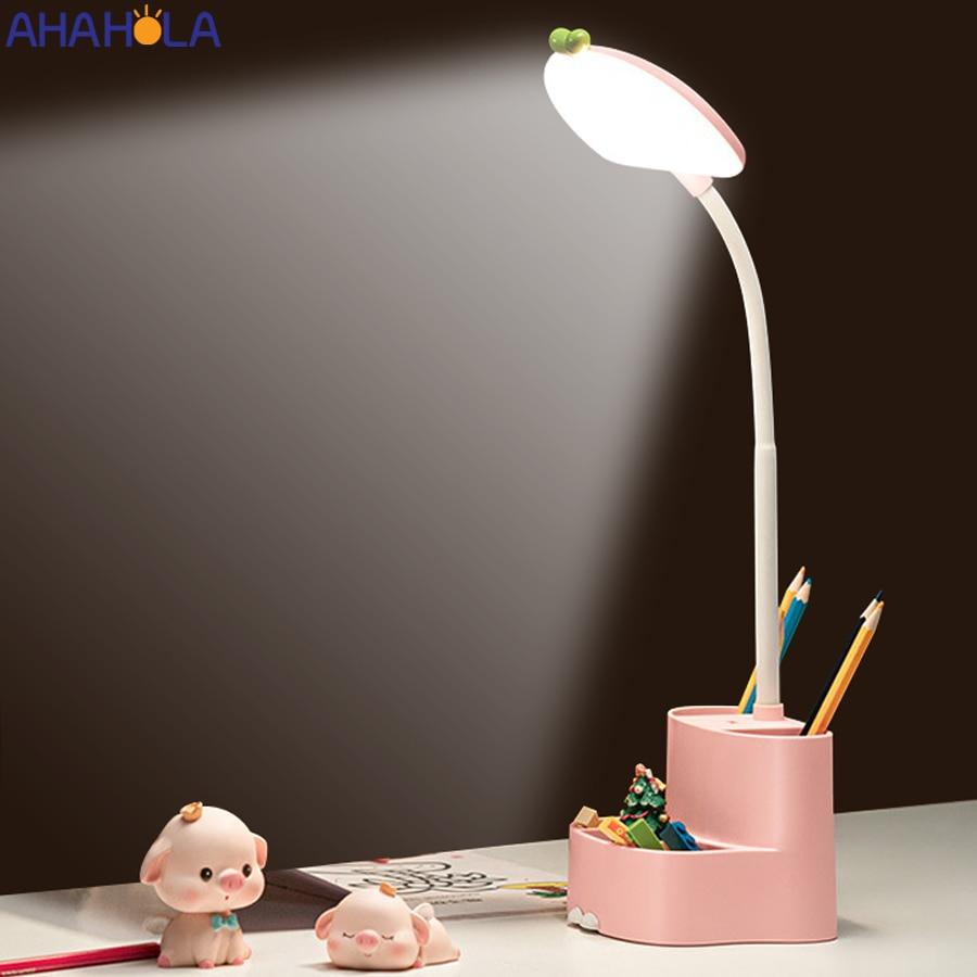 Перезаряжаемая настольная лампа, лампа для учебы, современная настольная лампа для студентов, для чтения, сенсорный Настольный светильник, ...