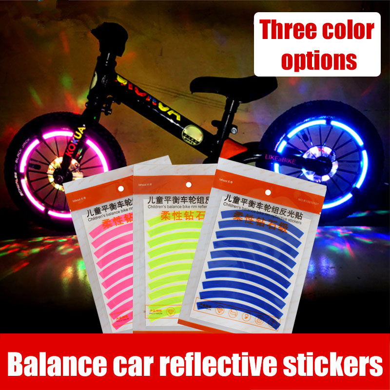 Bicycle Reflective Paste Parts Children Protect Vehicle Reflective <font><b>Sticker</b></font> <font><b>Scooter</b></font> <font><b>Sticker</b></font> Portable Durable 10pcs Entertainment image