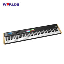 WORLDE P-88 برو 88-مفتاح USB ميدي وحدة تحكم بلوحة مفاتيح شاشة الكريستال السائل مع 88 شبه المرجحة مفتاح forMusic ستوديو مرحلة الأداء الحي