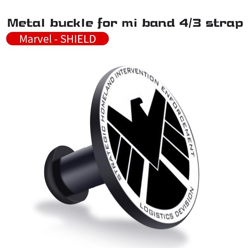 Для Xiaomi Mi Band 4/3 ремешок Металлическая пряжка силиконовый браслет аксессуары miband 3 браслет Miband 4 ремешок для часов М - Цвет: shleld