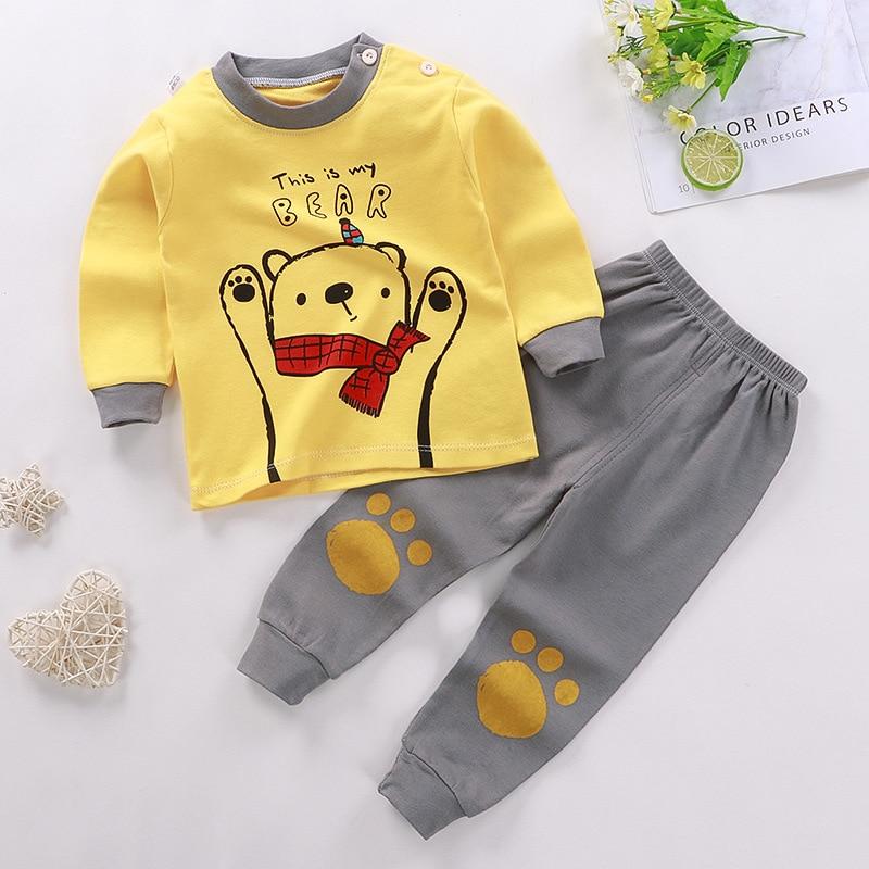 0-24M Baby Clothing Sets Autumn Baby boys Clothes Infant Cotton Girls Clothes 2pcs newborn baby Underwear Kids Clothes Set 2