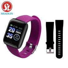 Stokta var! Akıllı saatler kalp hızı izle akıllı bileklik spor saatler akıllı bant Smartwatch Android Apple IOS pk IWO