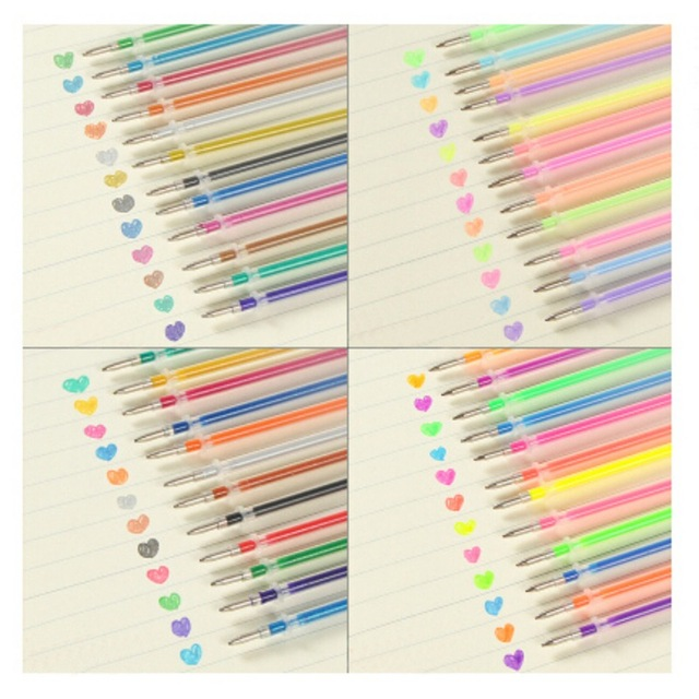 24/48 DIY Fluorescent Gel Paintings Drawing Pen Party Brushes Refills Watercolor Refills Office & School Home Colorful Pen 3