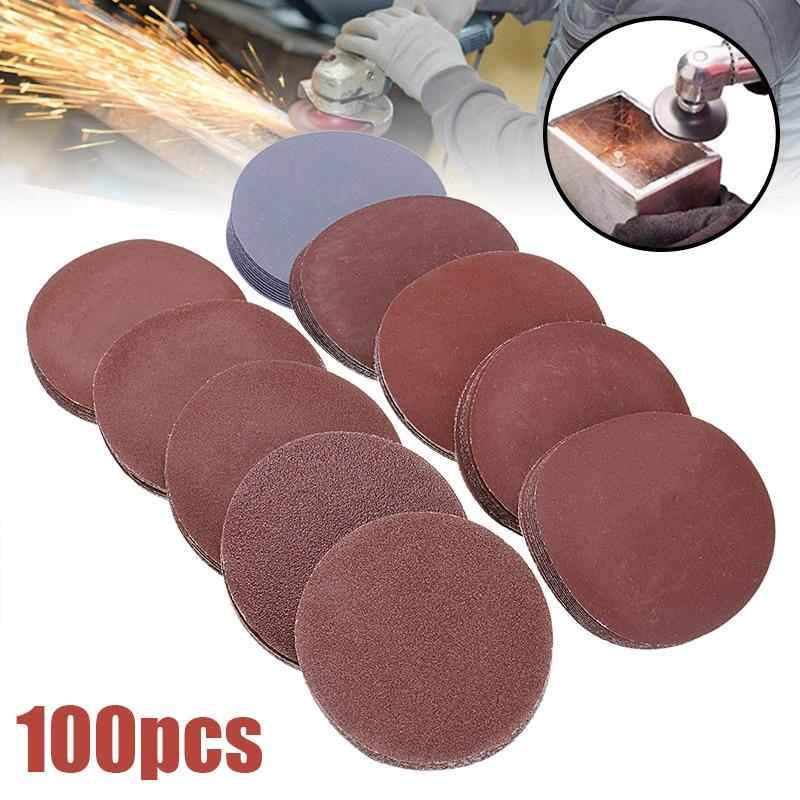 100pcs Round Sandpaper 75mm 3