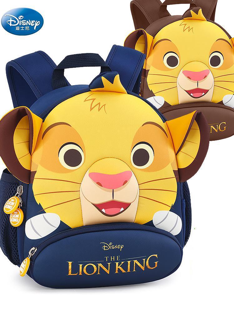 Original Disney Schoolbag Kindergarten Boy 3-6 Lion King Children Cartoon Baby Lost Prevention Children Traction Bag  Kids Bag