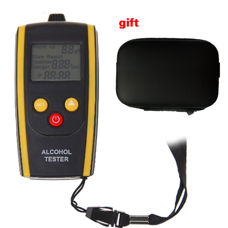 Portable LCD Digital Alcohol Tester Quick Response Breathalyzer Breath Analyzer Alcotester Detector With Backlight Display Dfdf