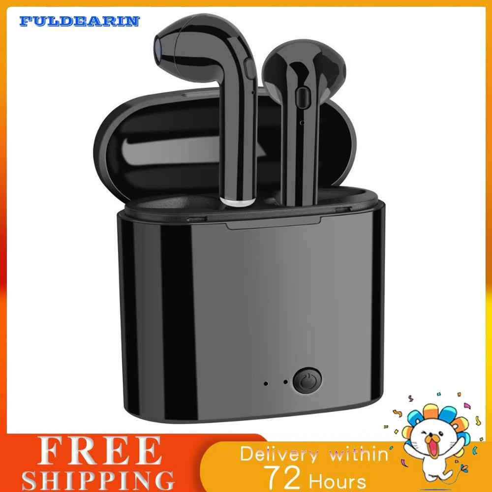 Hot Selling Wireless Bluetooth Earbuds i7 TWS Earphones Twins Earpieces Stereo Headset Casque Sans Sport Charger Box Eaephones