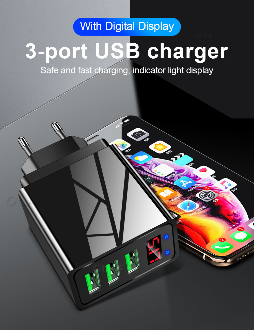 5V 3.1A OLAF USB Charger for ALL Chargeable Products