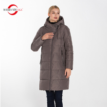 Warm Parka MODERN Winter Padded-Coat Hooded Woman Jacket Fashion Cotton Thick Long Zipper