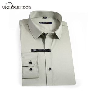 Image 1 - 2020 גברים חולצות אביב סתיו חדש הגעה Slim Fit זכר חולצה מוצק ארוך שרוול בסגנון בריטי כותנה גברים של חולצה להאריך ימים יותר YN10383