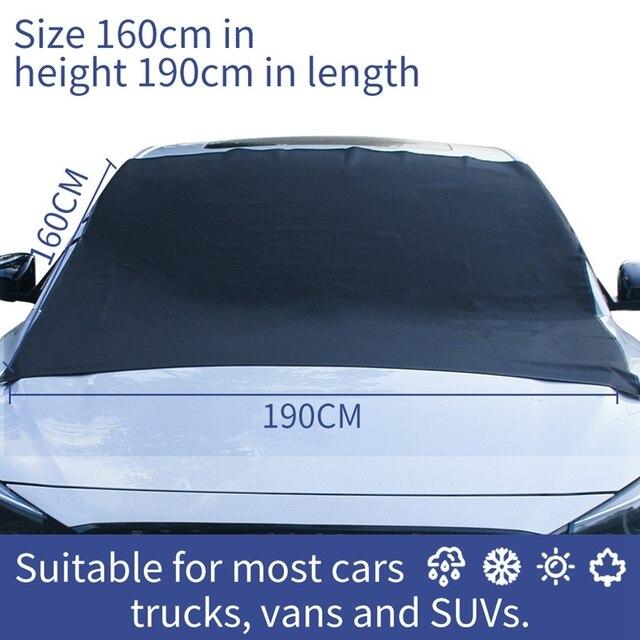 Фото чехол для лобового стекла автомобиля из ткани оксфорд защиты цена
