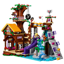 New Girl Series Toys Adventure Camp Tree House Compatible Legoinglys Friends 41122 Building Blocks Toys for Children Gift стоимость