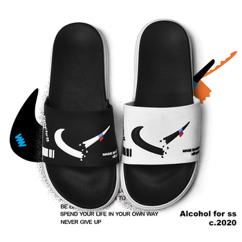 цена на EVA Men Slider Slippers Fashion Casual Shoes Non-slip Slides Bathroom Summer Sandals Soft Sole Flip Flops Men