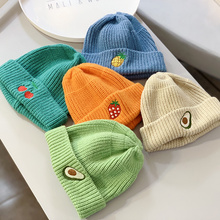 Warm Kids Baby Winter Fruit Hats for Kids Children Knitted Baby