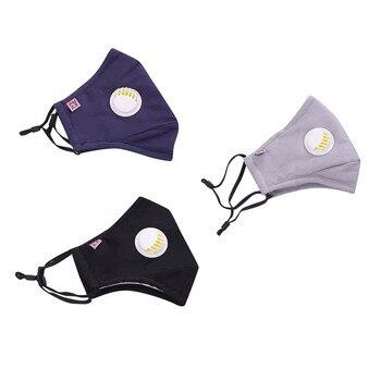 Máscaras faciales reutilizables antipolvo para exteriores PM2.5 de 3 uds. Con cubierta...
