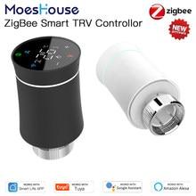 MoesHouse ZigBee Thermostat Tuya Radiator Actuator Valve Smart Programmable TRV Temperature Controller Alexa Voice Control New