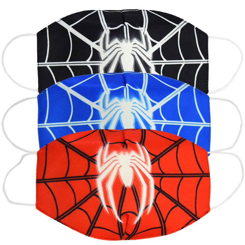 2020 Unisex Cotton Face Mouth Mask Children's  Kids Stop Air Pollution Cute Cartoon Spider-Man Printed Dustproof Cover
