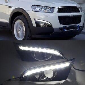 Image 3 - Auto Knipperende 2 Stuks 12V Led Drl Dagrijverlichting Met Mistlamp Gat Voor Chevrolet Captiva 2011 2012 2013 Richtingaanwijzer Relais