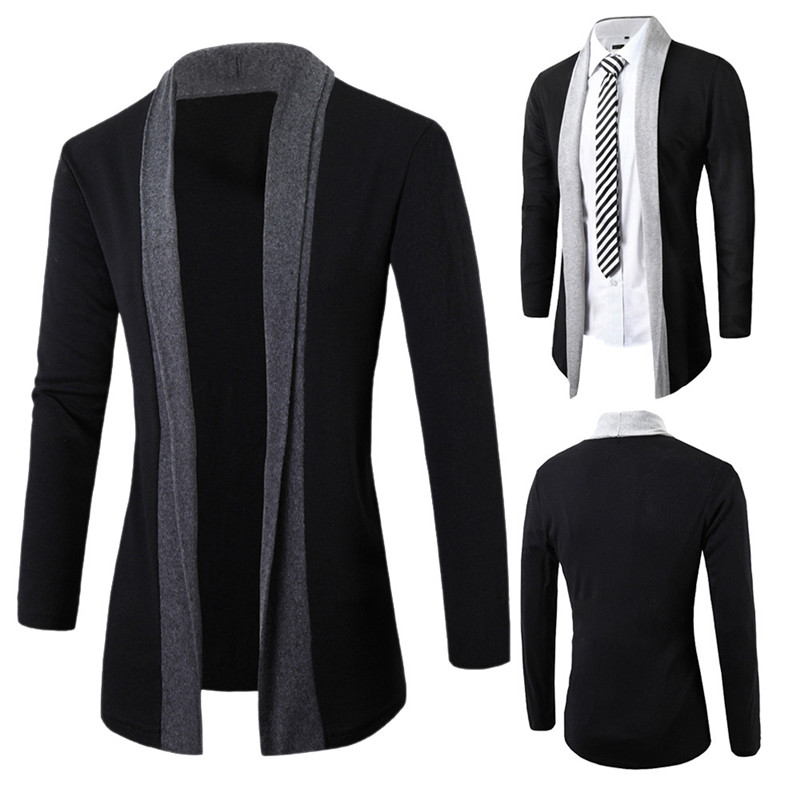 Men's Jacket Mens Road WorkStylish Men Fashion Cardigan Jacket Slim Long Sleeve Casual Coat Outwear Coat Plus With Full Collar