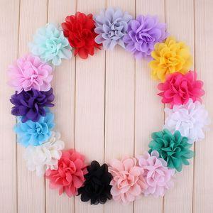 """Image 1 - Buquê boutique de flores de chiffon para cabelo, 20 peças, 5cm, 1.97 """", acessórios para cabeça de cabelo, tecido sem uso diy clipes clipes"""