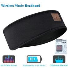 Słuchawki do spania kompatybilne z Bluetooth bezprzewodowa muzyka sportowa opaska na głowę, łagodna do snu słuchawki z wbudowany głośnik do biegania, joga