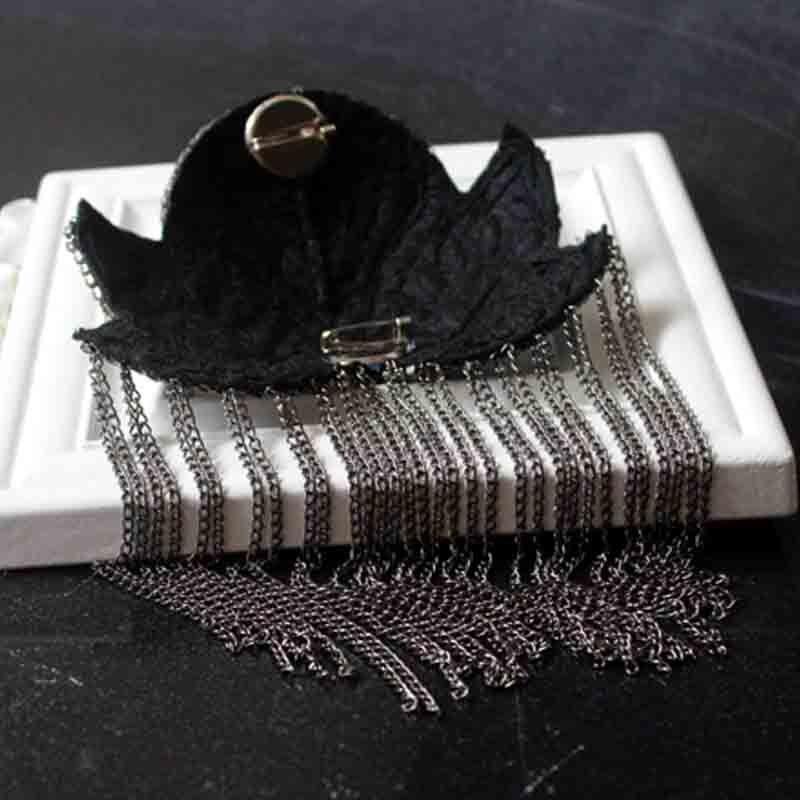 Image 5 - 2pcs Classic Handmade Metal Tassel Epaulette Jewelery Tassel Big Shoulder Brooch Epaulet Epaulettes Spikes Blazer AccessoriesBrooches   -