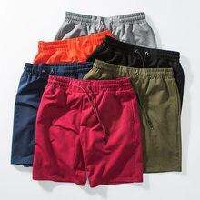 Plus rozmiar letnie szorty na co dzień mężczyźni sznurkiem Fitness spodenki męskie odzież sportowa trwała bawełna siłownia krótkie spodnie