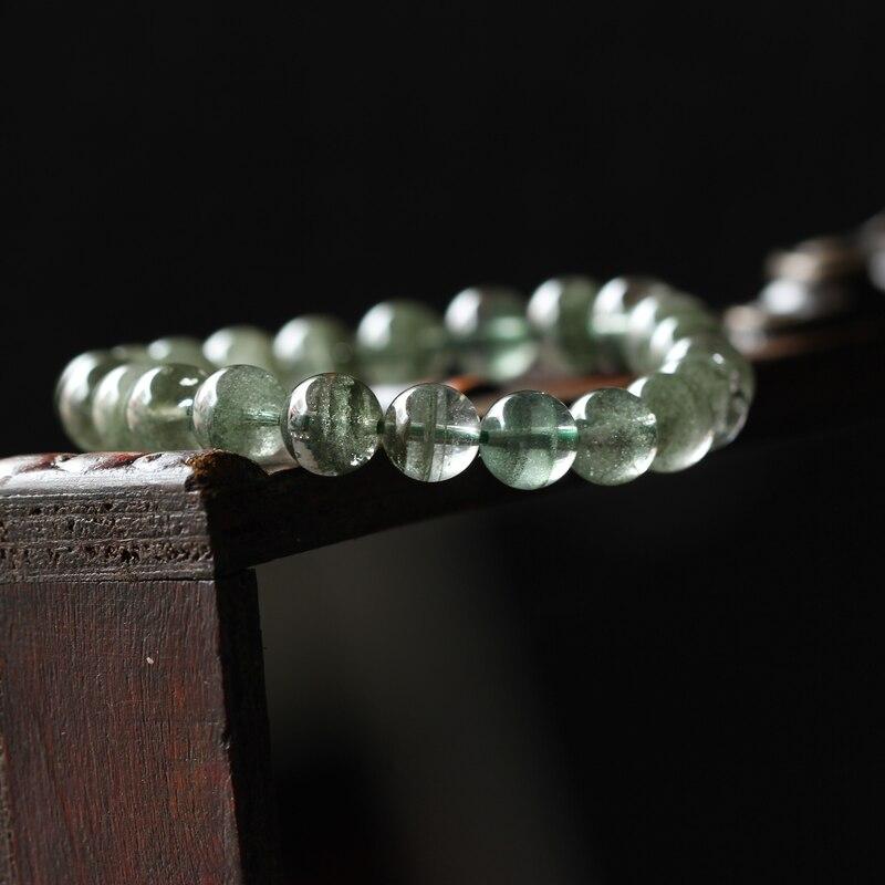 Pierre naturelle cristal vert fantôme fantôme perles en vrac Bracelet à la mode pour femmes hommes bijoux de mode vert fantôme cristal cadeau