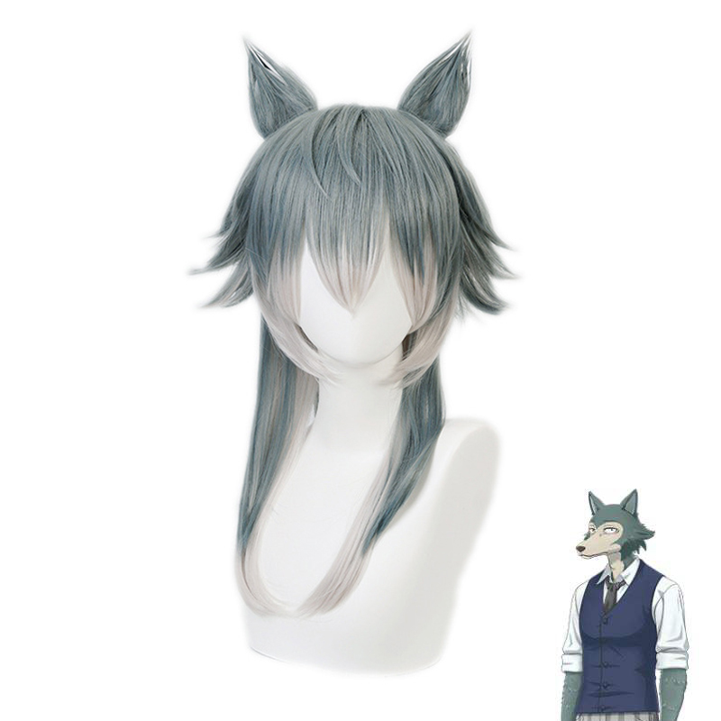 Legoshi-Wig Cosplay Costume Ears Anime BEASTARS Women Synthetic with Heat-Resistant title=