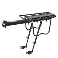 Cremalheira da bicicleta 50 kg capacidade liberação rápida bagagem cargo de carga assento pannier transportadora traseiro rack fender bicicleta acessórios