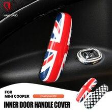 2 pièces Union Jack pour la poignée intérieure de porte de voiture, bouton pour garniture, autocollant, accessoires de style de voiture, pour BMW Mini Cooper R60 Countryman