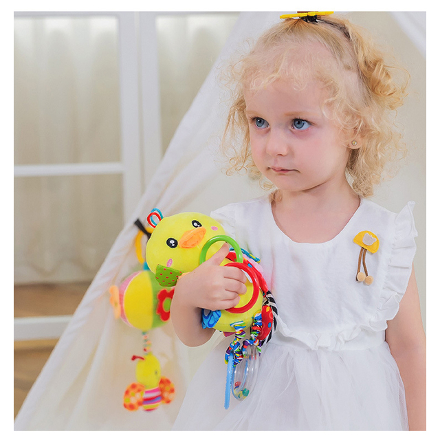 Baby Cute Animal Rattles Toys Stroller Hanging Soft Toy